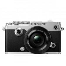 Olympus Pen-F Pancake Zoom  Kit Slv/Blk / Pen-F Silver + Ez-M14-42mm EZ Black - Aparat foto mirrorless