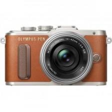 Olympus E-Pl8 Pancake Zoom Kit Brown - Aparat foto mirrorless
